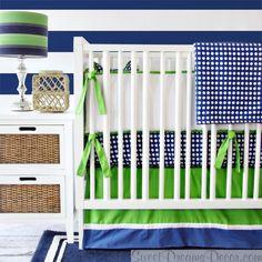 Preppy Navy Boy Baby Crib Bedding from Caden Lane