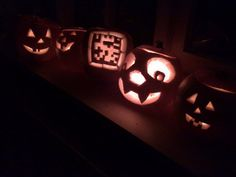 QR Pumpkin. I think the middle one is used to amuse people instead of scare them.
