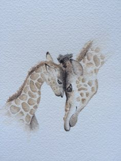 """Jenny Duck, """"Baby Love II,"""" (watercolor, 8 x 8, $50)"""