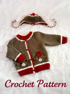 Crochet Sweaters Sock Monkey Toddler Set ~ Sandy Powers Design ~ Pattern available on Ravelry Crochet Patron, Knit Crochet, Crochet Hats, Crochet Sweaters, Crochet Cardigan, Baby Set, Baby Patterns, Crochet Patterns, Crochet Sock Monkeys