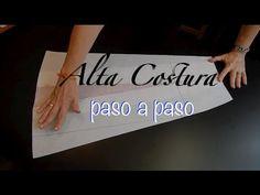 Alta Costura Clase 46A, Falda Medio Circular sin trazo - YouTube