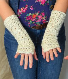 Long Luscious Natural Armwarmers Bright Beautiful by OneStrong, $48.00 Hand Warmers, Fingerless Gloves, Strong, Bright, Natural, Beautiful, Fashion, Fingerless Mitts, Moda