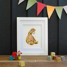 e58ea21c1306 Sleepy Giraffe Watercolor Nursery Art