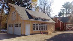 """""""Grand Victorian-inspired garage with transom dormer"""" With top."""