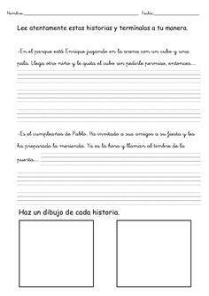 Completa cuento Spanish Grammar, Ap Spanish, Spanish Teacher, Teaching Spanish, Spanish Lesson Plans, Spanish Lessons, Spanish Classroom Activities, 3rd Grade Writing, Writing