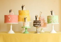 Cake collection... with vintage toppers
