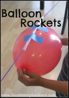 Super fun balloon rockets also teach an important science lesson. | 33 Activities Under $10 That Will Keep Your Kids Busy All Summer