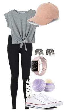 """Lilianna-Lazy"" by flamingrose12333 on Polyvore featuring NIKE, WithChic, Converse and Avenue"