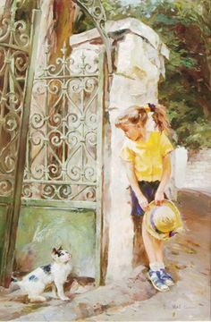 Morning Encounter by Michael and Inessa  Garmash, Limited Edition Print, Hand Embellished Giclee on Canvas