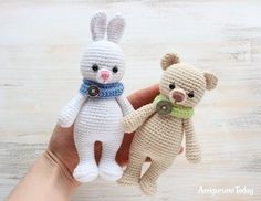 Cuddle Me Bunny and Bear amigurumi patterns