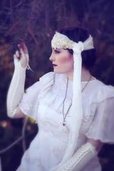Vintage hairpiece  1920s flapper inspired wrap