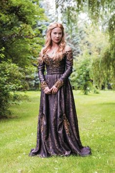 Purple and Gold Medieval-Inspired Dress