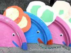 muis van papieren bordje knutselen