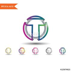 letter T logo _This stunning logo design was created by AMCstudio