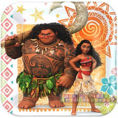 Moana Small Paper Plates (8ct) - $3.89 at HardtoFindPartySupplies.com