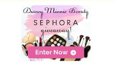 There are 25 Disney Minnie Beauty shimmer eyeshadow pallets up for grabs in this Disney Minnie Beauty Sephora Giveaway!  Disney Minnie Beauty Sephora Giveaway