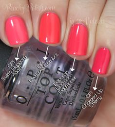OPI Live.Love.Carnival. Comparison - Peachy Polish Perfect Summer Colors