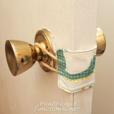 DIY Nursery Door Latch Cover | Practically Functional