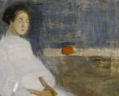 Seated Woman in White Dress, Helene Schjerfbeck - Cd Paintings Helene Schjerfbeck, Helsinki, A4 Poster, Poster Prints, James Mcneill Whistler, Female Painters, Edvard Munch, Art Society, Northern Lights