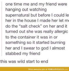 Fans do a Salt check because of Supernatural ...with typically hilarious results.