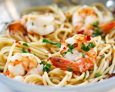 Spaghetti Aglio e Olio with Shrimp - Easy Recipes at RasaMalaysia.com