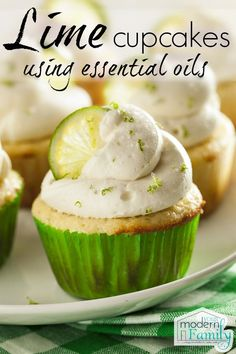 Lime Cupcakes with essential Oils