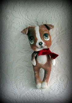 Pit Bull cloth doll by suziehayward on Etsy, $64.00