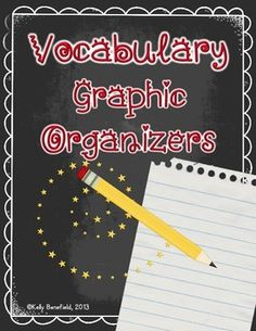 These graphic organizers are designed to help your students think deeply about vocabulary.  I have included 14 vocabulary graphic organizers in this packet along with examples of completed g.o.'s.  Students may use dictionaries, glossaries, or context clues in texts to complete the pages as they review and think about such topics as synonyms, antonyms, prefixes, suffixes, root words, definitions, parts of speech, and ...