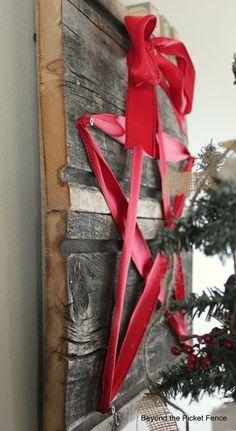 This ribbon star idea is SO CUTE! #christmas #christmasdecor #star #ribbon #nails