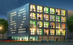 Real. A new alphabet facaded energy efficient building in Amsterdam, to be completed 2012.