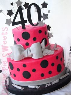 40th Birthday Cake By CutiePieSweets on CakeCentral.com & 71 best 40th Birthday Ideas images on Pinterest | 40 birthday cakes ...
