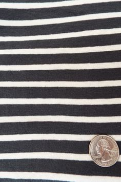 "Rib-56""-Charcoal/Natural Sailor Stripe"