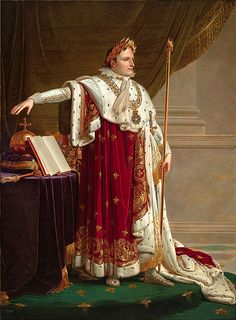 Painting of Napoleon I attired in the Costume de Sacre Oil on canvas, circa 1804, by Anne-Louis Girodet de Roucy-Triosson (Anne Louis Girodet de Roucy Triosson) (1767-1824).