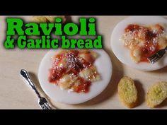 Miniature Ravioli & Garlic Bread - Polymer Clay Tutorial - YouTube