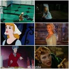Cinderella 2015 and 1950 parallels