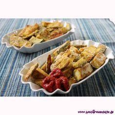 Zucchinipommes - Zucchini-Fritten - kalorienarmes FrittenrezeptUnsere Zucchinifritten bzw Zucchinipommes sind nicht nur witzig, sondern auch noch gesund, lecker und kalorienarm