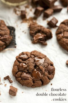 Easy Double Chocolate Flourless Cookies