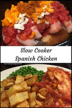 Recipes Slow Cooker Slow Cooker Spanish Chicken- low calorie family meal made in the slow cooker, syn-free on Slimming World too. Can be made in big batches for the freezer.