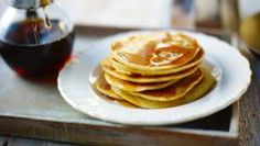 BBC Food - Recipes - Canadian buttermilk pancakes with maple syrup Easy American Pancakes, Canadian Pancakes, Pancake Recipe Bbc, Pancake Recipes, Crepes, Buttermilk Pancakes Easy, Vegan Pancakes, Pancake Healthy, Light And Fluffy Pancakes