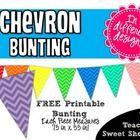 Add a splash of color to your classroom with my FREE Chevron bunting! Comes in 8 colors: red, orange, yellow, green, blue, turquoise, pink, and pu...