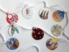 Recycle last year's Christmas cards to make this festive garland.