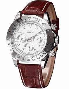 KS Automatikuhr Silber/Weiss Automatik Mechanik Herren Uhr Leder Armbanduhr - http://on-line-kaufen.de/ks/ks-automatikuhr-silber-weiss-automatik-mechanik