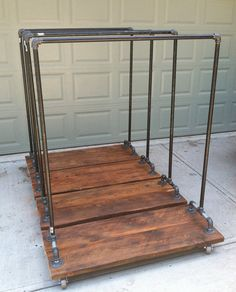 Large Industrial Garment Rack by TylerKingstonWoodCo on Etsy, $325.00