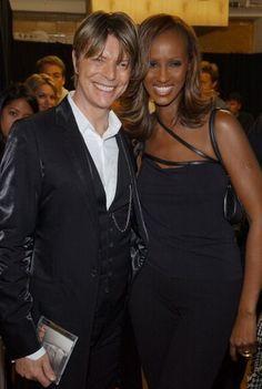 David Bowie & wife, Iman.