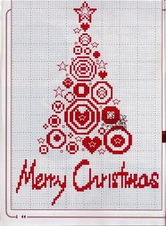 X3 Deck The Halls Scandi Style Baubles Christmas Cross Stitch Chart