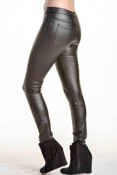 Faux Leather Legging with back pockets.  AfricanFashion Faux Leather  Leggings, Biker Leather, 68f8ea5591