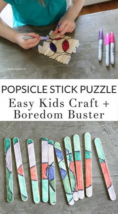 Travel Crafts & DIY: Make a popsicle stick puzzle - your child will love this easy DIY puzzle craft. Keep them entertained with their own custom puzzle activity! Popsicle Stick Crafts For Kids, Craft Stick Crafts, Crafts To Do, Popsicle Sticks, Crafts For Camp, Craft Ideas, Craft Stick Projects, Camping Crafts For Kids, Kids Camp