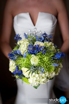 Wedding flowers #Blue + #Lime #Green #Spring #Wedding … Wedding #ideas for brides, grooms, parents  planners https://itunes.apple.com/us/app/the-gold-wedding-planner/id498112599?ls=1=8 … plus how to organise an entire wedding, within ANY budget ♥ The Gold Wedding Planner iPhone #App ♥ For more inspiration http://pinterest.com/groomsandbrides/boards/ #blue #lime #green #ceremony #reception