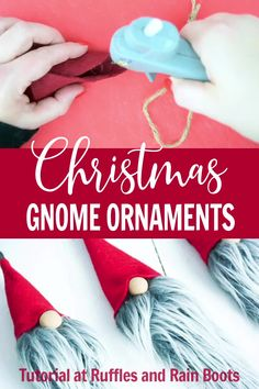 How to make a felt gnome hat. Also pics of the gnome themed What a darling rustic Elfin Gnome! Fimni the Curious is the sweetest gnome with a warm heart and kind spirit who lives in the Nordic forests. Diy Christmas Decorations For Home, Easy Christmas Ornaments, Gnome Ornaments, Christmas Gnome, Homemade Christmas, Simple Christmas, Christmas Projects, Holiday Crafts, Scandinavian Christmas Ornaments