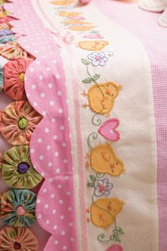 baby quilt border - I could never do this but it's one of the most beautiful borders I've seen